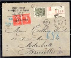 Lettre D'Alger Vers Bruxelles, Semeuse Surchargée, Cote Dallay 25 €, - Argelia (1924-1962)