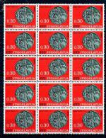 Yugoslavia Republic 1966 Mi#1191 ** Block Of 15 - 1945-1992 Socialist Federal Republic Of Yugoslavia