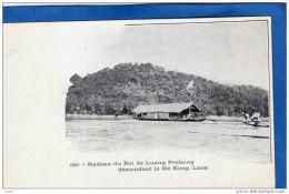 INDOCHINE-LAOS  Radeau Du Roi De Luang Pra Bang Descendant Le Mékong  -carte Précurseur-édit Mottet -1900 - Laos