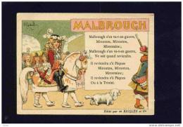 MALBROUGH S'en Va T En Guerre--Illustrée  Par H GERBAULT-  Publicité  -RICQLES-années 1906 - Andere