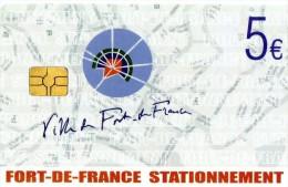 CARTE DE STATIONNEMENT 5e   Fort  De France - Cartes De Stationnement, PIAF
