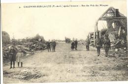 CALONNE SUR LA LYS - Après L´Invasion - Rue Des Prés Des Minques   201 - France