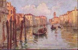 Venezia Canal Grande (ill. Migliavada)+Venezia Isola S.Giorgio (ill. Non Noto) - Illustrators & Photographers