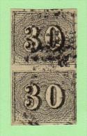 BRZ SC #23 PR  1850 Numeral, CV $7.00 - Used Stamps