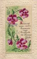CPA 1004 - Carte En Tissu Fleur  - Bonne Fete - Flowers, Plants & Trees