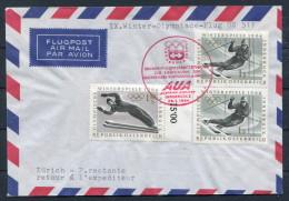 1964 Austria Innsbruck Winter Olympics AUA First Flight - Zurich Switzerland - Winter 1964: Innsbruck