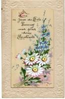 CPA 1006 - Carte En Tissu Fleur  - Bonne Fete - Flowers, Plants & Trees