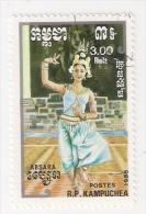 REPUBBLICA KAMPUCHEA 1985 DANZE USATO - Kampuchea