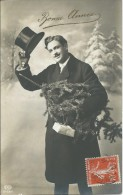 Portrait Homme Avec Chapeau Haut De Forme - Bonne Année - Uomini