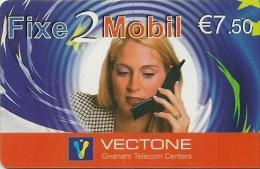 CARTE-PREPAYEE-7.5€-VECTO NE-FIXE-MOBILE-25/12/2004 -R° Logo En  Bas - -T BE- - Autres Prépayées