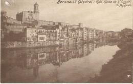 POSTAL DE GERONA DE LA CATEDRAL I VISTA TIPICA DE L'ONYAR (GIRONA) (V. FARGNOLI) - Gerona