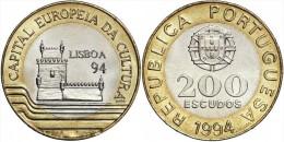 "PORTUGAL  200  ESCUDOS  1.994  BIMETALICA   KM#669   ""LISBOA 94""   SC / UNCirculated   T-DL-11.158 Austria - Portugal"