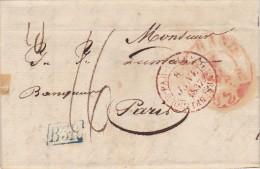 BELGIQUE LETTRE AVEC CORRESPONDANCE  1836 - 1830-1849 (Belgique Indépendante)