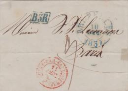 BELGIQUE LETTRE SANS  CORRESPONDANCE  1837 - 1830-1849 (Belgique Indépendante)