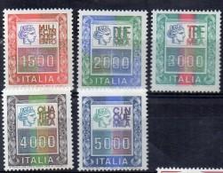 ITALIA 1978-87   CINQUE ALTI VALORI SERIE ORDINARIA  NUOVI MNH ** - 1971-80:  Nuovi