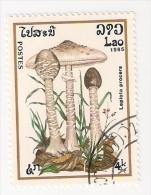 LAOS 1985 FUNGHI LEPIOTA PROCERA USATO - Laos
