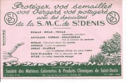 Buvard  Protégez Vos Semailles Avec Les Spécialités De La S.M.C De St-Denis . Somax, Corbax, Ditox,(Agriculture) - Agricoltura
