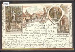 GRUSS AUS JENA - LITHO - B ( TIMBRE DECOLLE AU DOS ) - Jena