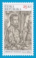 CZ 2014-823 Sndreas Vesalius, CZECH REPUBLIK, 3 X 1v, MNH - Nuevos