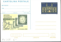 REPUBBLICA ITALIANA INTERO POSTALE KARALIS MANIFESTAZIONIE FILATELICA CAGLIARI 2006 - EURO 0,60 FILAGRANO C258 NUOVA ** - 1946-.. République