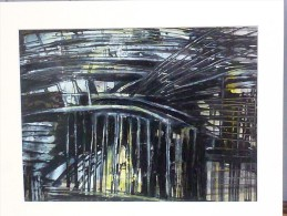 Jean ROUSSILLON (1923-2004) - Gare - Laque Sur Papier - Signé Au Dos 1996 - Pastels