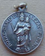 Mad-539Médaille Ancienne Gravée O.B.C.Sacré Cœur N.D. Du Quézac - Religion & Esotérisme
