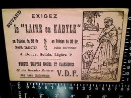 BUVARD BLOTTER LAINE AU KABYLE Ca1900 - Textile & Vestimentaire
