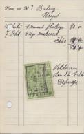 1926: Factuur Van/Facture De ##Poissonnerie Victor DE PAEPE, Heyst-sur-Mer## Aan/à Dhr. Bailyu, Heyst. - Levensmiddelen