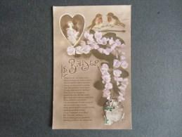 Fantaisie  Le Baiser (couple Dans Un Coeur) Oiseaux Sur Une Branche De Fleurs - Zonder Classificatie