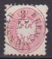 AUSTRIA   1863-64  AQUILA BICIPITE UNIF. 29 USATO - 1850-1918 Imperio