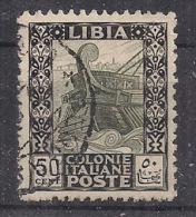 COLONIE ITALIANE  LIBIA 1926-30 PITTORICA SASS. 64 USATO - Libia