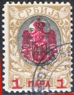 SRBIJA - SERBIA - King OBRENOVIC - OVPT  1p / 5din - Used - 1908 - Serbia