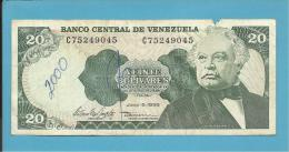 VENEZUELA - 20 BOLÍVARES - 05 / 06 / 1995 - Pick 63e - JOSÉ ANTONIO PAEZ - 2 Scans - Venezuela