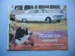 Ford Fairlane 500S 1962 Depliant Originale Factory Brochure Catalog Prospekt - Livres, BD, Revues