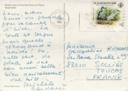 YT 115 SUR CP VICTORIA 19/11/85 POUR FRANCE - Seychelles (1976-...)