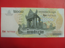 Cambodia Cambodge 2000 RIELS UNC Banknote 2008 / 02 Images - Cambodia
