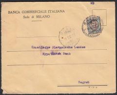 Italy 1924, Cover Milano To Zagreb W./ Postmark Milano - 1900-44 Vittorio Emanuele III