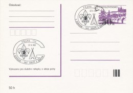 I0278 - Czechoslovakia (1991) Praha 114: V. Georgiadou - Meeting Scouts And Guides - American Indians