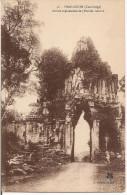 CAMBODGE PRAH KHOM ENTREE SEPTENTRIONALE PORCHE CENTRAL CPA NO 16 - Cambodge