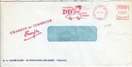 13283# LETTRE GREVE 10 FONTAINE LES GRES AUBE 1974 CHAMBRE DE COMMERCE TROYES STRIKE - Marcophilie (Lettres)