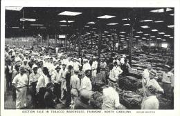 ETATS UNIS - U.S.A. - Auction Sale In Tobacco Warehouse - FAIRMONT - NORTH CAROLINA - Etats-Unis