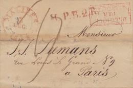 BELGIQUE  LETTRE  1834  SANS CORRESPONDANCE - 1830-1849 (Belgique Indépendante)