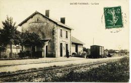 11416 - Deux Sévres :  SAUZE  VAUSSAIS  :  LA GARE    Circulée En 1910 - Sauze Vaussais