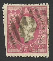 Portugal, 25 R. 1870, Sc # 41, Mi # 38xB, Used - Used Stamps