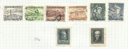 Pologne N°391 à 396, 396B, 396C Côte 5.50 Euros - Used Stamps