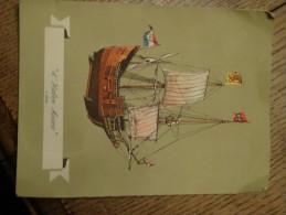 Cruise Queen Rms Nieuw Amsterdam Menu 1952 - Cartes
