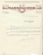 Lettre / Fabrique D'Instruments De Musique/ MASSPACHER/Paris/Courbe/La Couture Boussey/1935   PART173 - Other