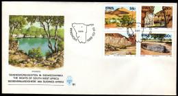 SWA 1988 - Sehenswürdigkeiten / Sossuvlei, Sesriem Schlucht, Hoarusebtal, Hoba Meteorit - FDC - Sonstige