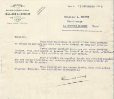 Lettre / Fabrique D´Instruments De Musique/GAILLARD & LOISELET/Lyon/Courbe/La Couture Boussey/1935   PART176 - Other