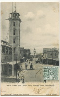 Guyana British Guiana Water Street From Church Looking South , Georgetown Used To USA Tram Tramway - Cartes Postales